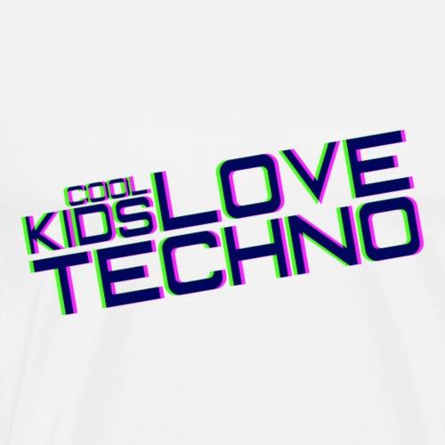 I bambini freddi amano il techno - Maglietta Premium da uomo