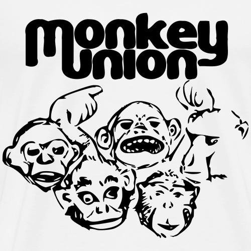 Union of the Monkey T Shirt Black - Men's Premium T-Shirt