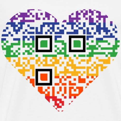 Love is Love   QR code   Pride - Men's Premium T-Shirt