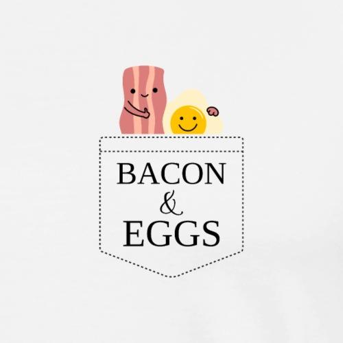 Schinken und Eier Bacon Eggs - Männer Premium T-Shirt