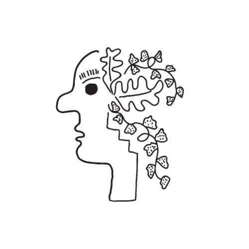 Bloemen hoofd - Mannen Premium T-shirt