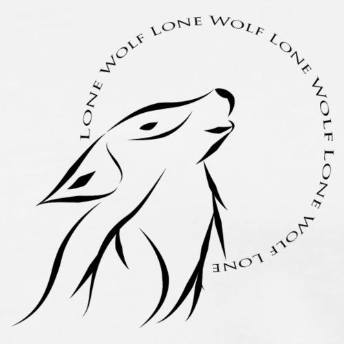 Lone wolf black - Men's Premium T-Shirt