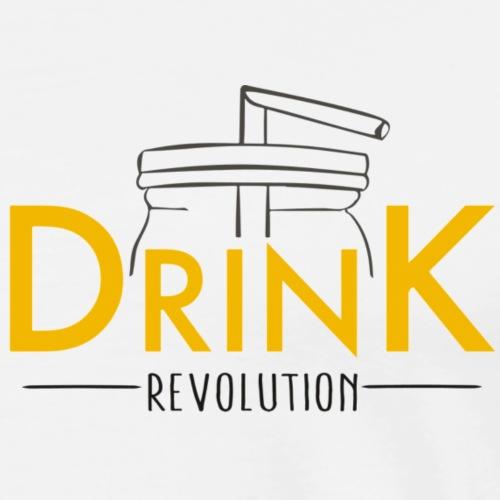 Drink Revolution (für helle Farben) - Männer Premium T-Shirt