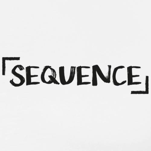 Sequence. - Classic Logo Design - Männer Premium T-Shirt