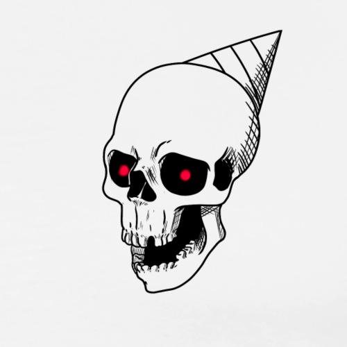 Party Skull T-shirt - Men's Premium T-Shirt