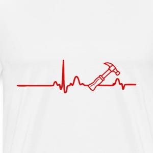 EKG heart line craftsmen - Men's Premium T-Shirt