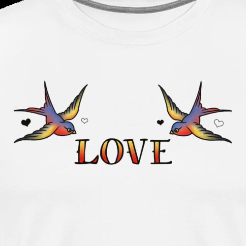 A Pair Of Swallows In Love - Men's Premium T-Shirt