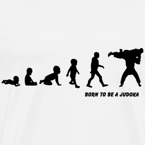 born to be a judoka - Mannen Premium T-shirt