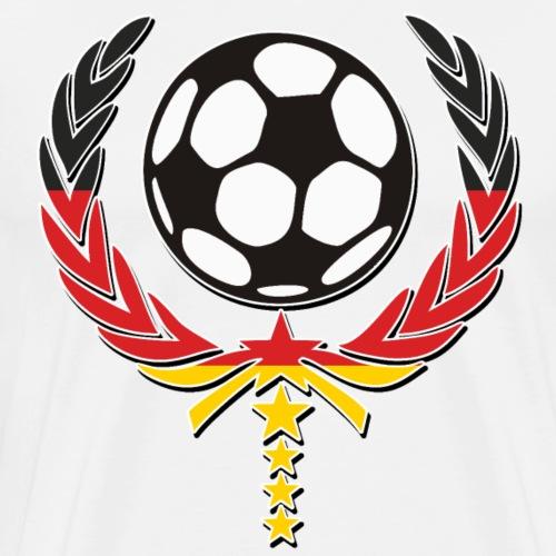 Fussball Lorbeerkranz 5 Sterne Team 3 - Männer Premium T-Shirt