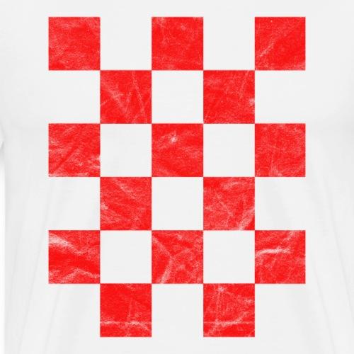 Kroatien T-Shirt Hrvatska Flagge Retro rot-weiß - Männer Premium T-Shirt
