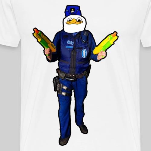 Poliisi-Ankka - Miesten premium t-paita