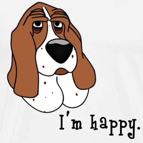 Chien heureux basset hound - T-shirt Premium Homme