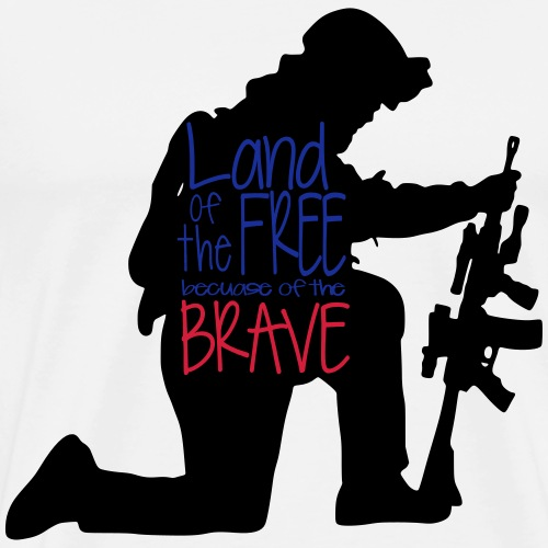 Land of free bc of brave - Mannen Premium T-shirt