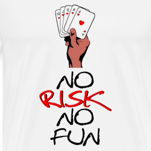 Ingen risk No Fun - Premium-T-shirt herr
