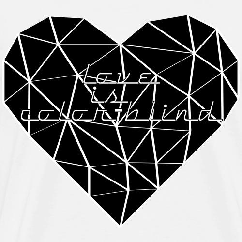 HEART TRIANGLE LOVE IS COLOR-BLIND black - Männer Premium T-Shirt