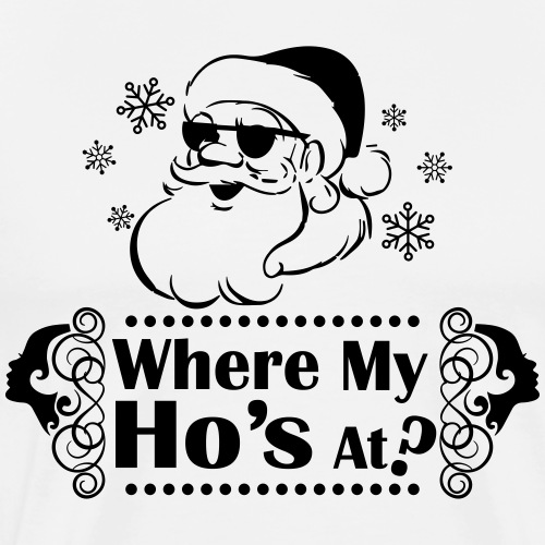 Where_My_Hos_at - Mannen Premium T-shirt