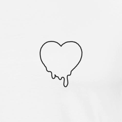 heart black - Männer Premium T-Shirt