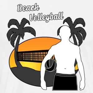 Beach volley - Herre premium T-shirt