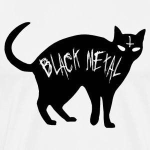 Cat Black Metal - Black Metal cat - Men's Premium T-Shirt