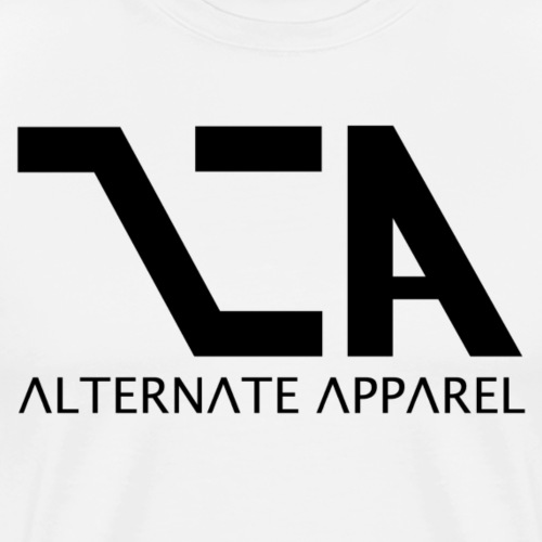 Alt A - Black Logo - Men's Premium T-Shirt
