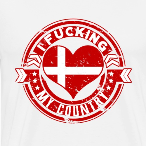 I love my country Denmark perfect gift - Männer Premium T-Shirt