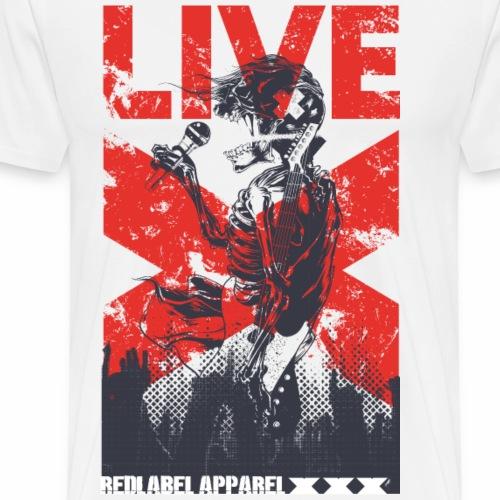 LIVE - Rock Konzert Musik Metal Popstar Geschenk - Männer Premium T-Shirt