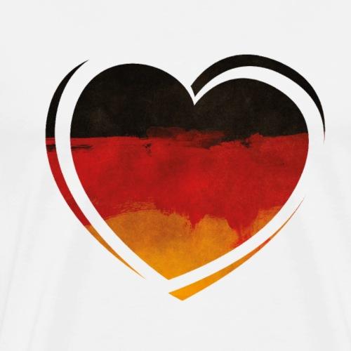 Deutschland Herz - Männer Premium T-Shirt