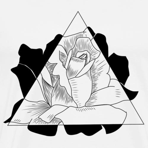 Triangle Rose - Männer Premium T-Shirt