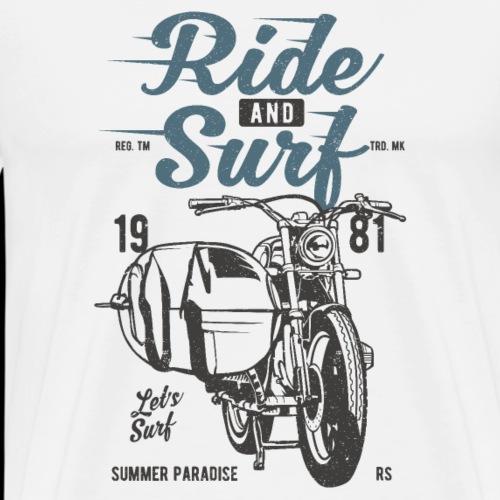 Motorrad und Surfen Wellenreiten - Männer Premium T-Shirt