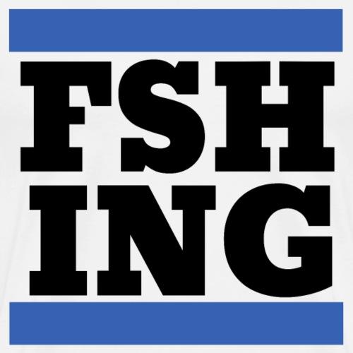 Fishing Angeln Logo Schwarz Cooles Geschenk Shirt - Männer Premium T-Shirt