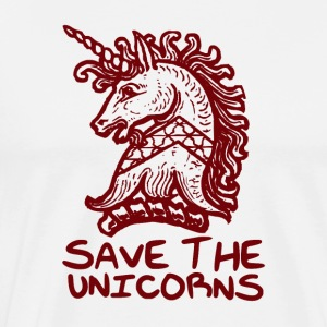 Unicornio - Save The Unicornios - Camiseta premium hombre