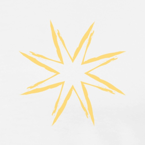 Yellow Star - T-shirt Premium Homme