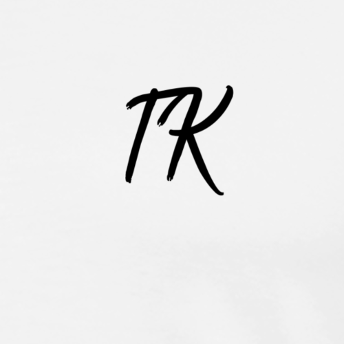 TK Initials (Black) - Men's Premium T-Shirt