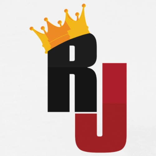RJ Crown Logo - Premium-T-shirt herr