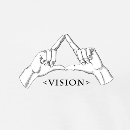 Hand Vision Black - Men's Premium T-Shirt