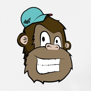 Cartoon Monkey - Mannen Premium T-shirt