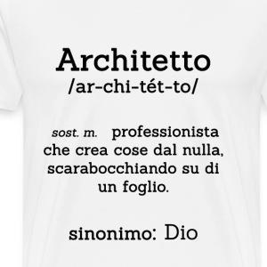 Maglietta per Architetto Bianca
