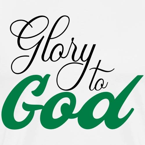 Glory to God - T-shirt Premium Homme