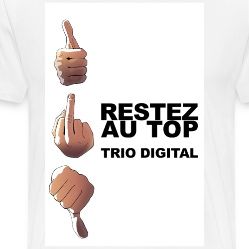 trio digital - T-shirt Premium Homme
