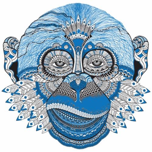kunstvoller Affen Indianer/ colorful ape/ monkey - Männer Premium T-Shirt