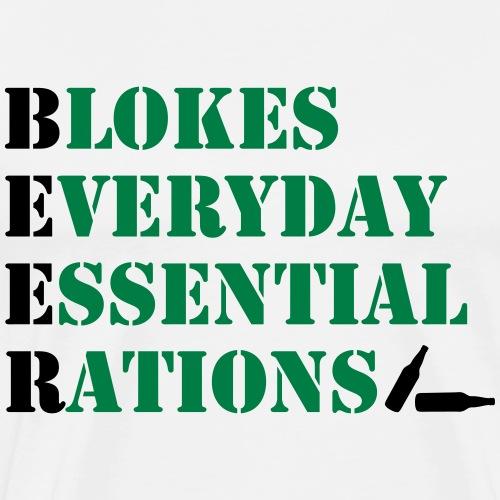 Blokes Everyday Essential Rations - Men's Premium T-Shirt
