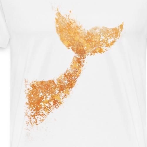 Whale - Coda di Balena - Maglietta Premium da uomo