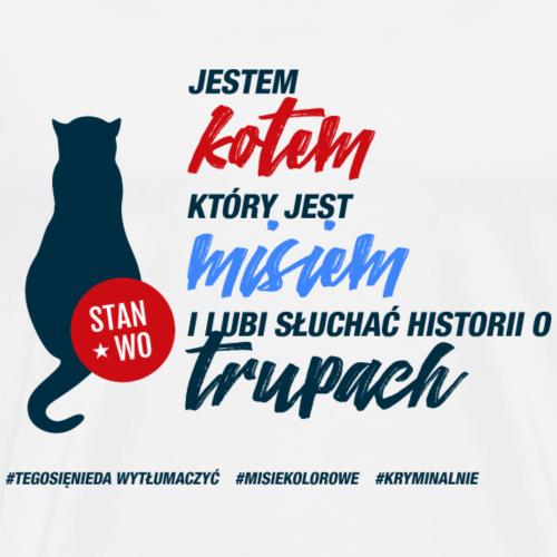 JESTEM KOTEM - motyw ciemny - Koszulka męska Premium