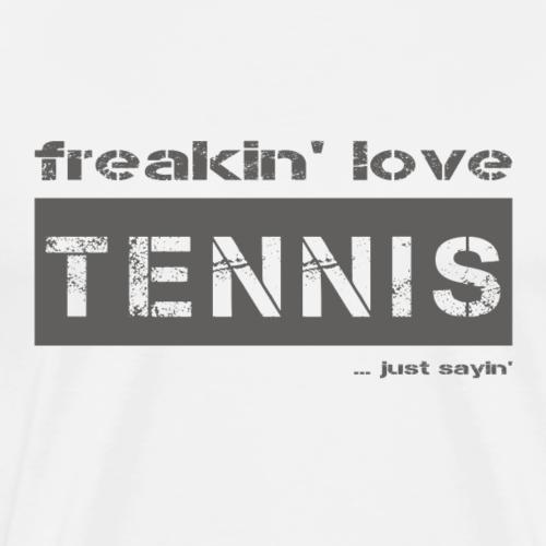 love TENNIS - dark T-Shirt - Männer Premium T-Shirt