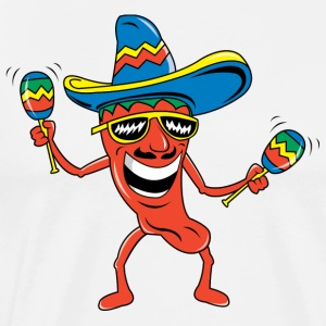 Mexican Chili Pepper Funny Mexican - Men's Premium T-Shirt