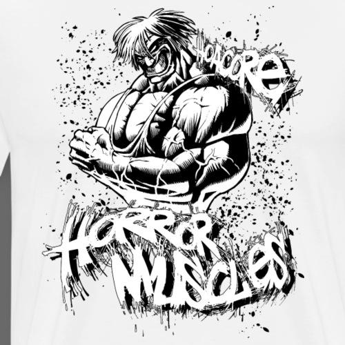 Hoacore - Horror Muscles white - Männer Premium T-Shirt