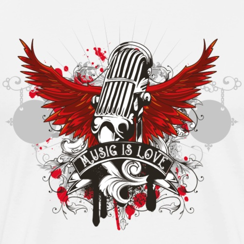 Music Is Love - Männer Premium T-Shirt