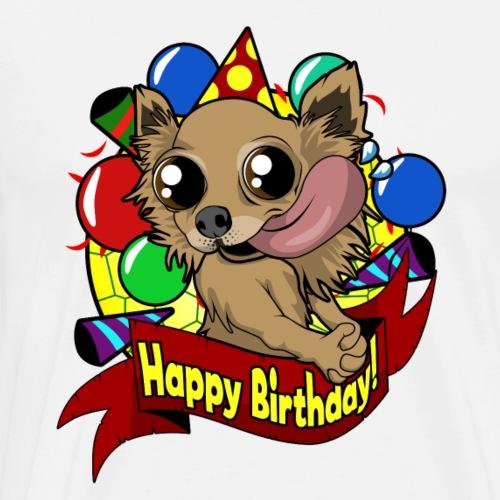 Chihuahua Happy Birthday Geschenk zum Geburtstag - Männer Premium T-Shirt