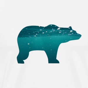 BEAR IN WATER - Men's Premium T-Shirt