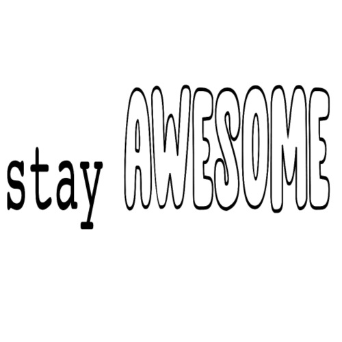 stay AWESOME - Männer Premium T-Shirt